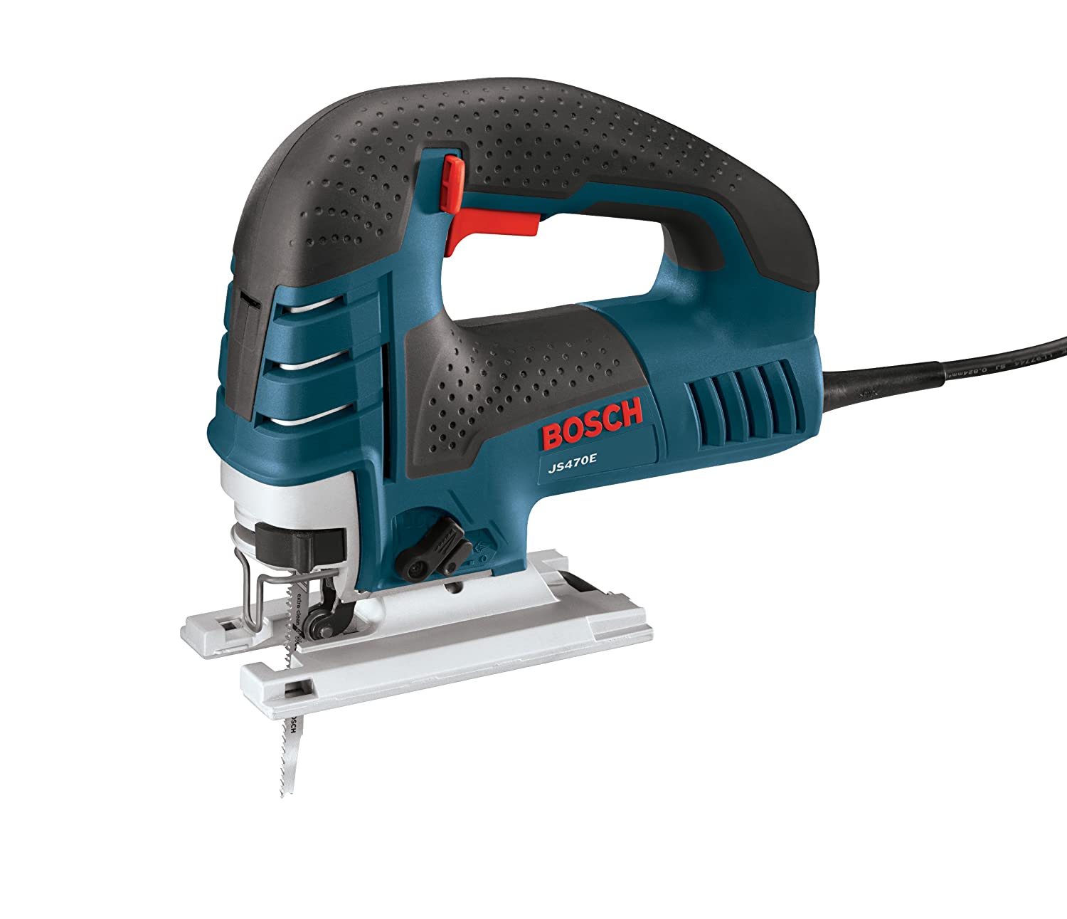"Bosch Power Tools Jig Saws - JS470E Corded Top-Handle Jigsaw - 120V Low-Vibration, 7.0-Amp Variable Speed For Smooth Cutting Up To 5-7/8"" Inch on Wood, 3/8"" Inch on Steel For Countertop, Woodworking"