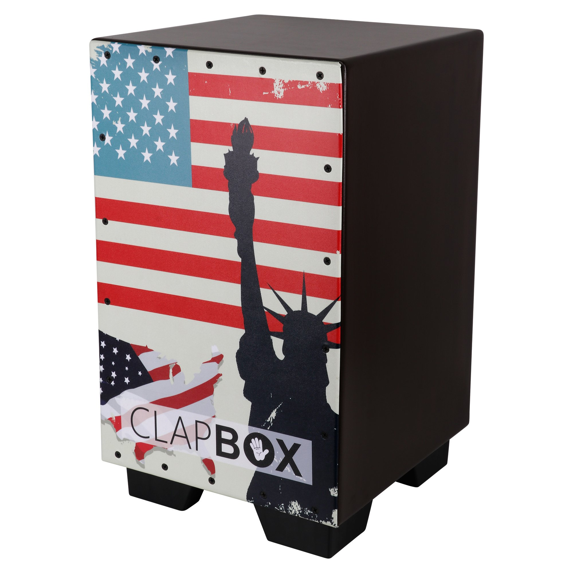 Clapbox Graphic Cajon -Brown, American Maple (H:50 W:30 L:30) - 3 Internal Snares product image