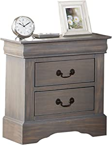 ACME Furniture Louis Philippe III 25503 Nightstand, Antique Gray