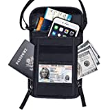 Neck Wallet, Travel Neck Pouch, FREETOO Anti-Theft Passport Zipper Bag with RFID Blocking