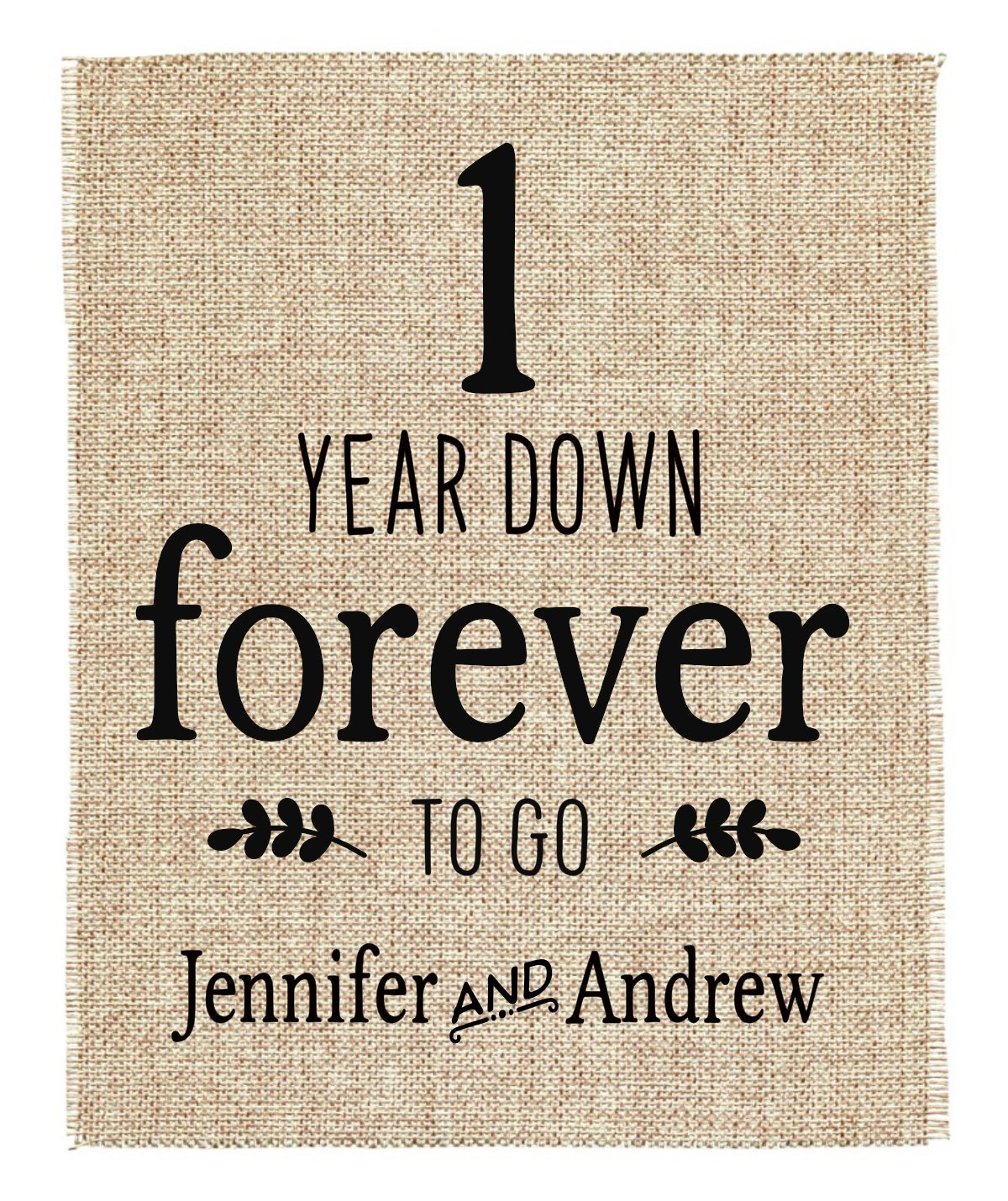 Amazon Com One Year Anniversary Gift 1st Wedding Anniversary Gift Gift For 1st Anniversary 1 Year Down Forever To Go 1 Year Of Marriage Handmade