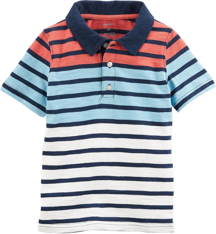 9b7d6df2c Amazon.com  Carter s Boys  2T-8 Short Sleeve Shark Polo  Clothing