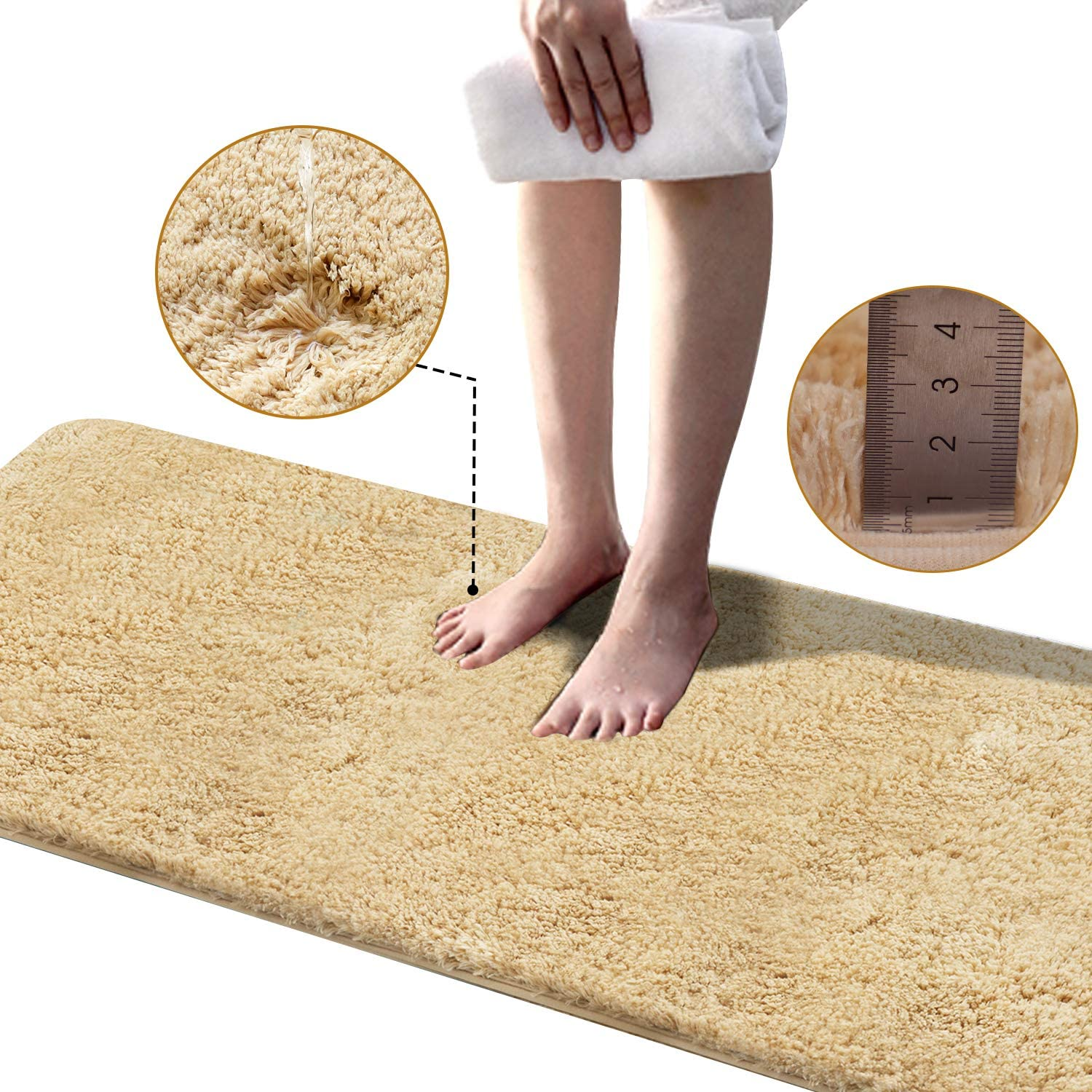 Extra Long Soft Plush Bathroom Rug Mat