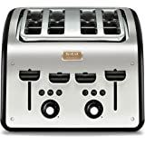 Cuisinart cpt440e toaster motoris 4 tranches acier bross cuisine maison - Grille pain cuisinart cpt160e ...