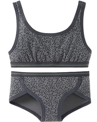 624bd9a090 Schiesser Mädchen Teens - Unterwäsche Set Bustier + Panty aus Serie  Metropolitan Grey (164)
