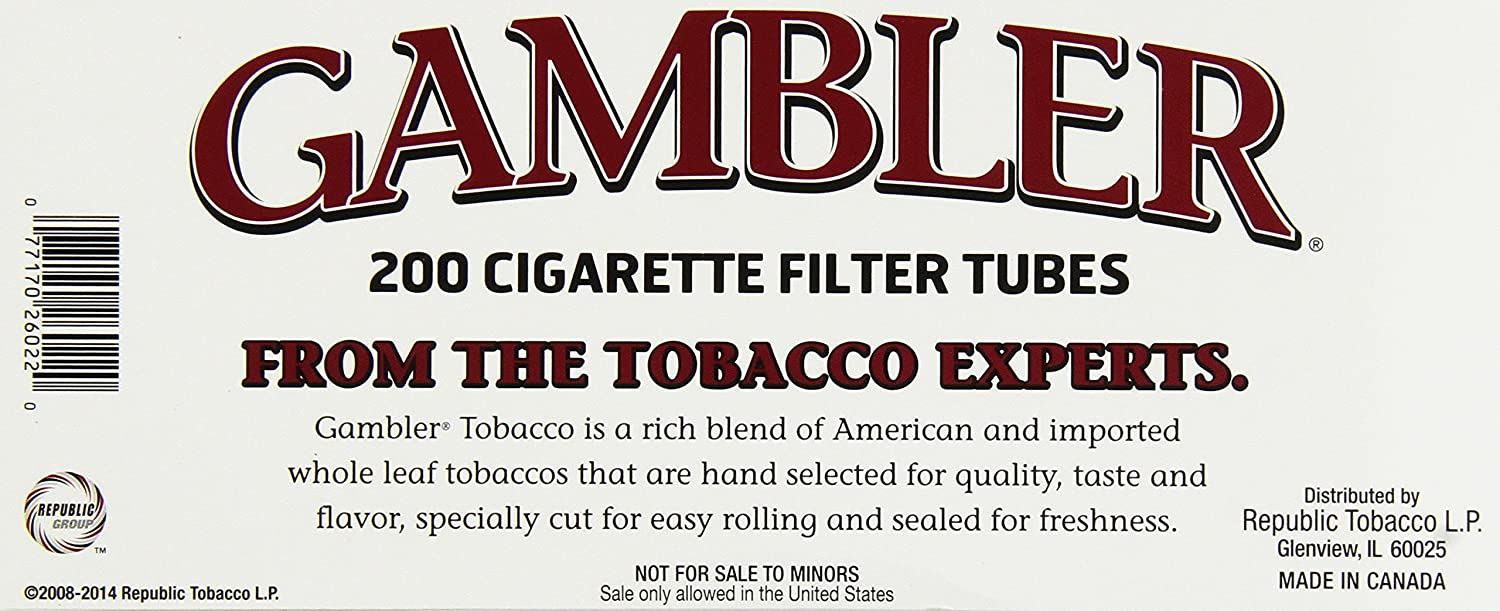Amazonin Buy Gambler Regular King Size Cigarette Tubes Boxes - Creating a invoice tobacco online store