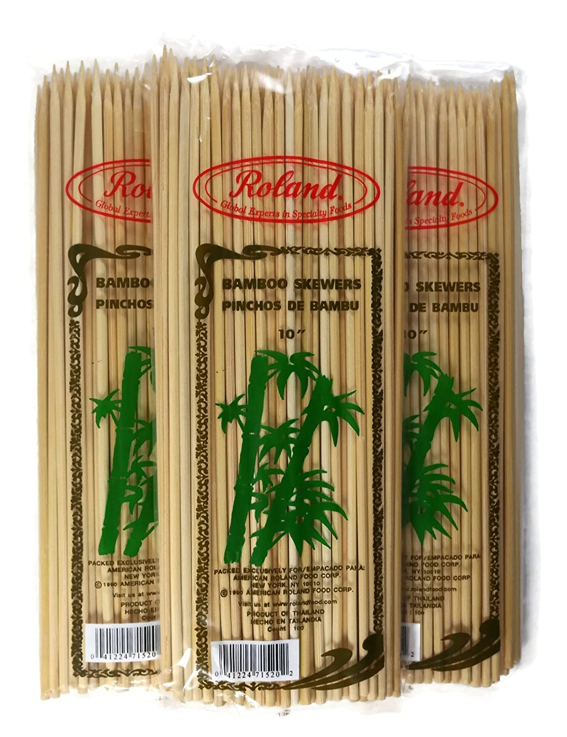 Amazon com : Roland Bamboo Skewers 10 Inches Long, 4mm, 100 Count