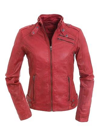 Veste cuir rouge femme amazon