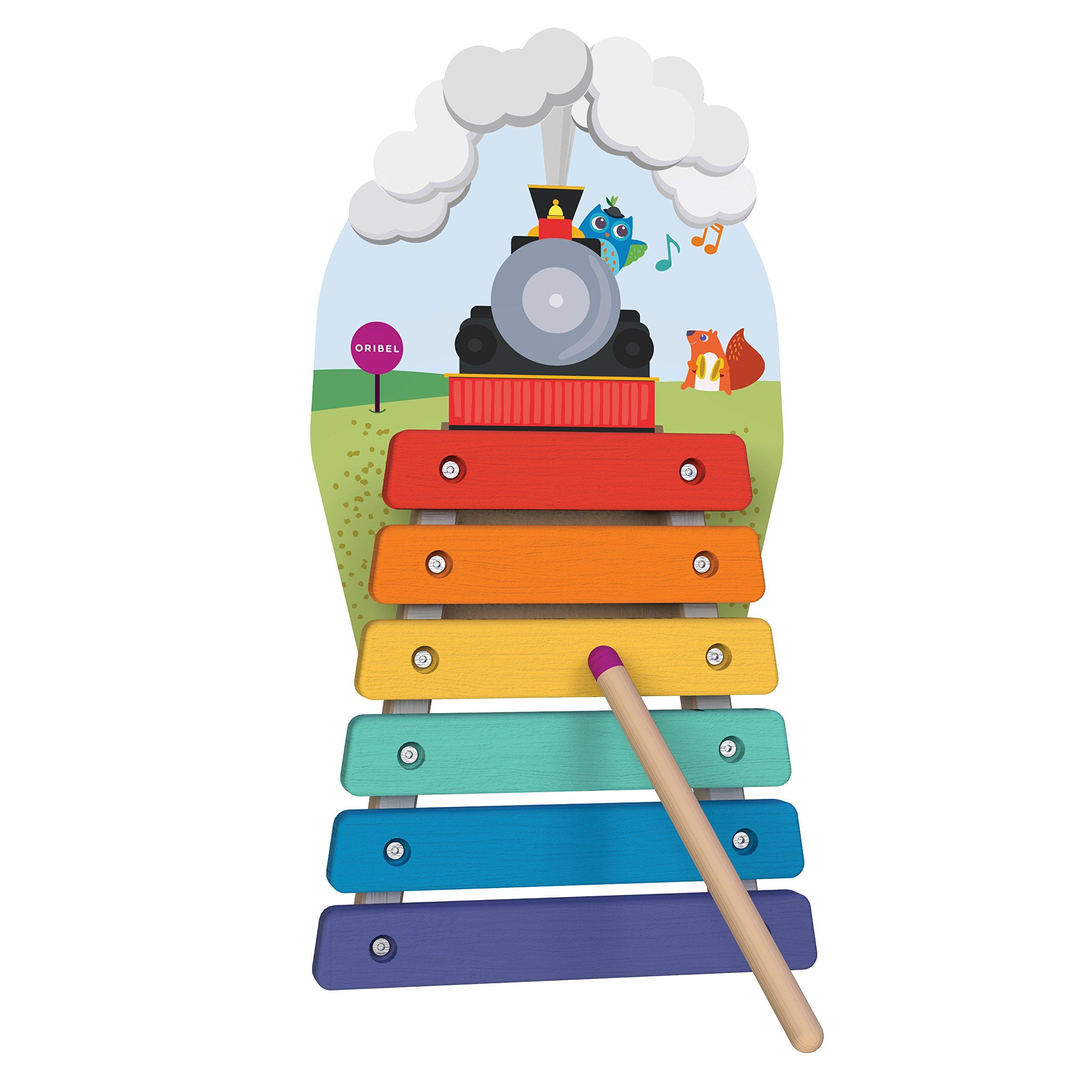 ORIBEL VertiPlay Wall Toys Play Wall Combo Set (Tree Top Adventure, Slidey Spidey, Woodpecker, Xylophone, Door Knocker) by ORIBEL (Image #6)