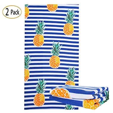 NovForth Microfiber Large Beach Blanket Towel Super Water Absorbent Multi-Purpose Beach Towel 30  x 60
