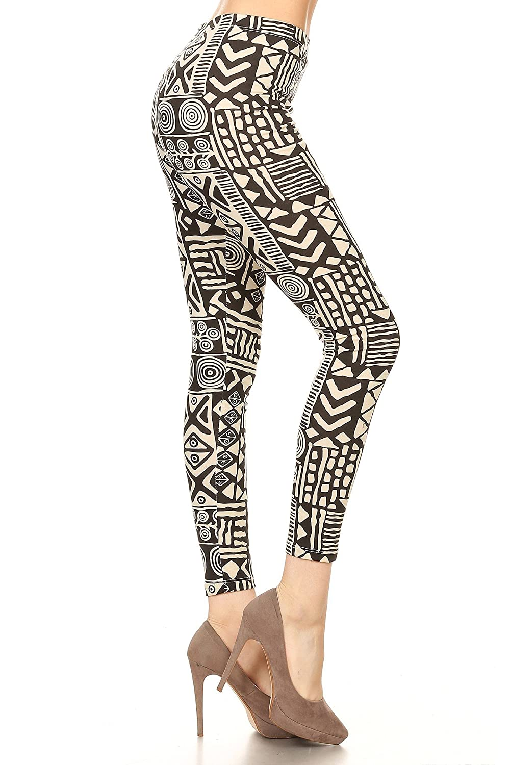 0d23015f45a81 Rue 21 Rue21 Aztec Print High Waist Yoga Pants (Large) at Amazon Women's  Clothing store: