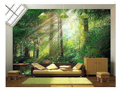 Wall26 Beautiful Forest Wallpaper Canvas Art Wall Mural Decor 100 X144