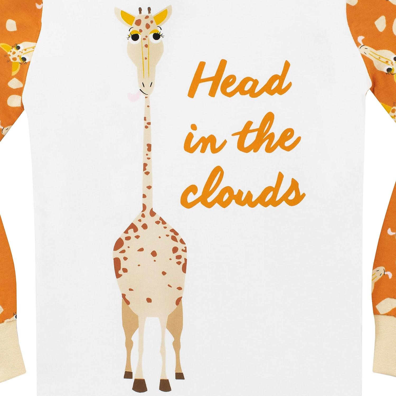 Harry Bear Pigiama a Maniche Lunghe per Ragazzi Giraffa Vestibilitta Stretta