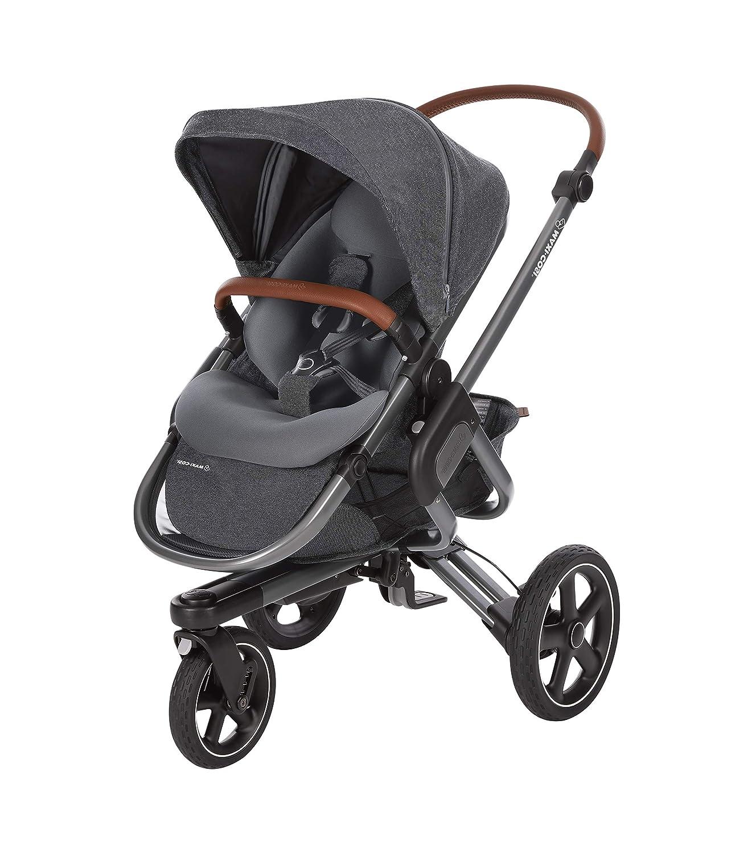 Maxi Cosi Nova 3 Rad, automatisch klappbar, nutzbar ab der Geburt mit Babyschale oder Babywanne Oria bis circa 3,5 Jahre, Farbe: sparkling grey