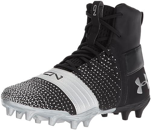 Under Armour Boys C1N MC Jr Football Shoe //White 5 M US Big Kid Black 001