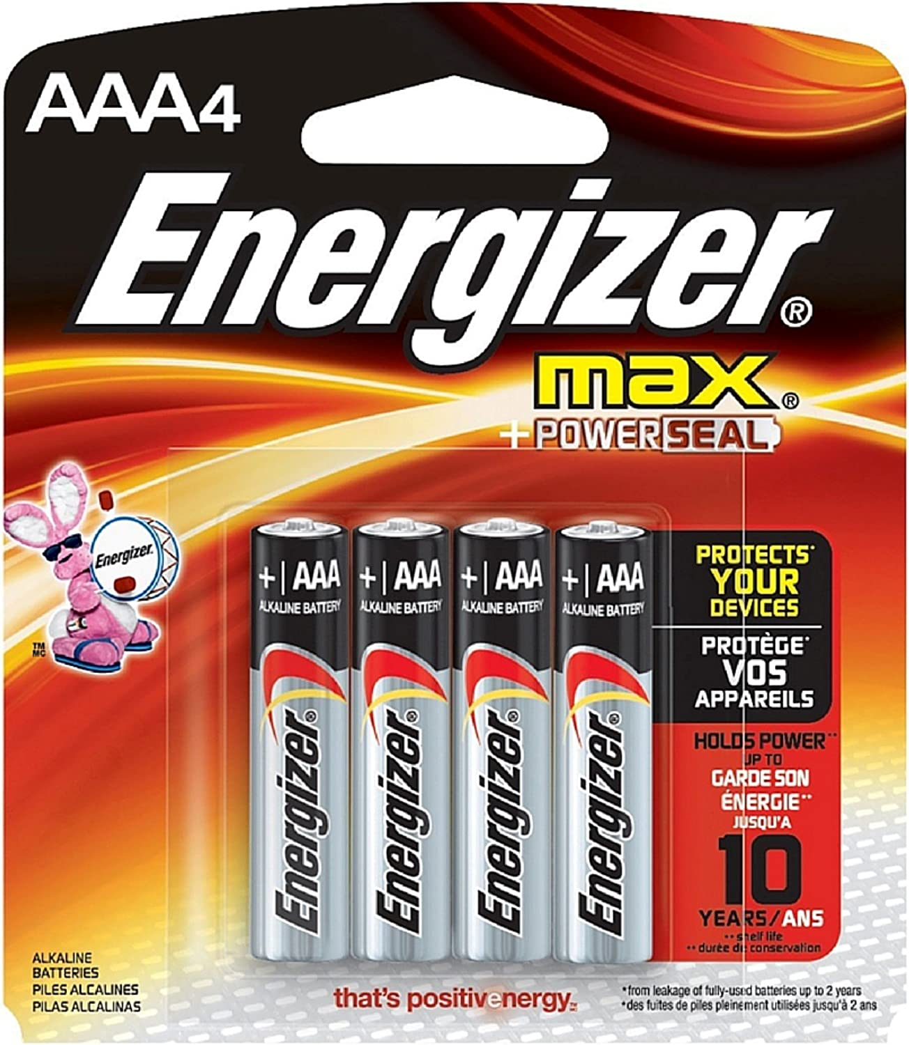 Pack of 2 Energizer Max AAA Alkaline Battery 4 ea