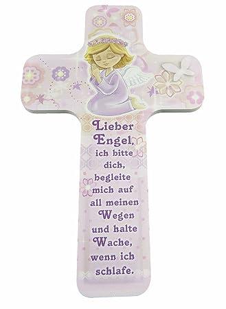 Kinderkreuz Holzkreuz Taufkreuz Taufe Wandkreuz Kommunion für Mädchen
