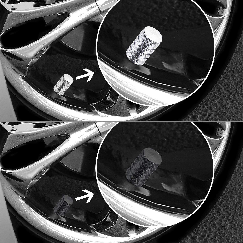 Motorrad Metall Reifenventil Staubkappen f/ür Auto Set von 8 St/ück Reifenvorbau Auto Rad Staubdicht Kappe MINISTAR 8 x Ventilkappen Fahrrad