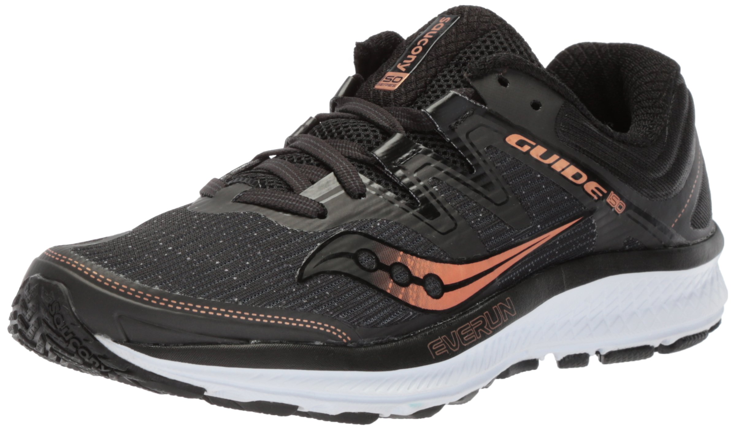 Saucony Women's Guide Iso Running Shoe, Black/Denim, 10.5 Medium US by Saucony (Image #1)