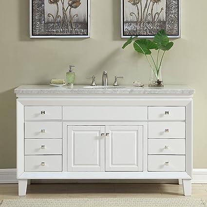 Amazon Com Silkroad Exclusive V0319ww60c Bathroom Vanity Carrara