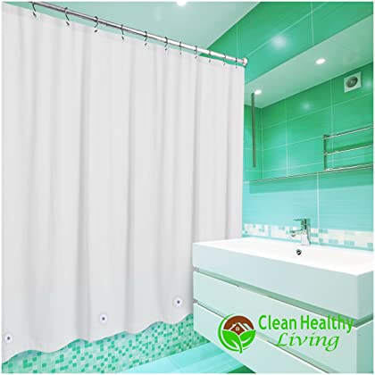Clean Healthy Living Heavy Duty PEVA Shower Liner Curtain Odorless Anti Mold