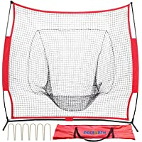 PACEARTH 7x7 Baseball and Softball Practice Net with Extra 6 Fastening Nails Bow