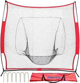 PACEARTH 7x7 Baseball and Softball Practice Net