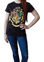 Harry Potter Hogwarts Crest Black Junior T-Shirt