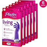 Playtex Living Reuseable Rubber Cleaning Gloves, Premium Protection (Large, Pack - 6)