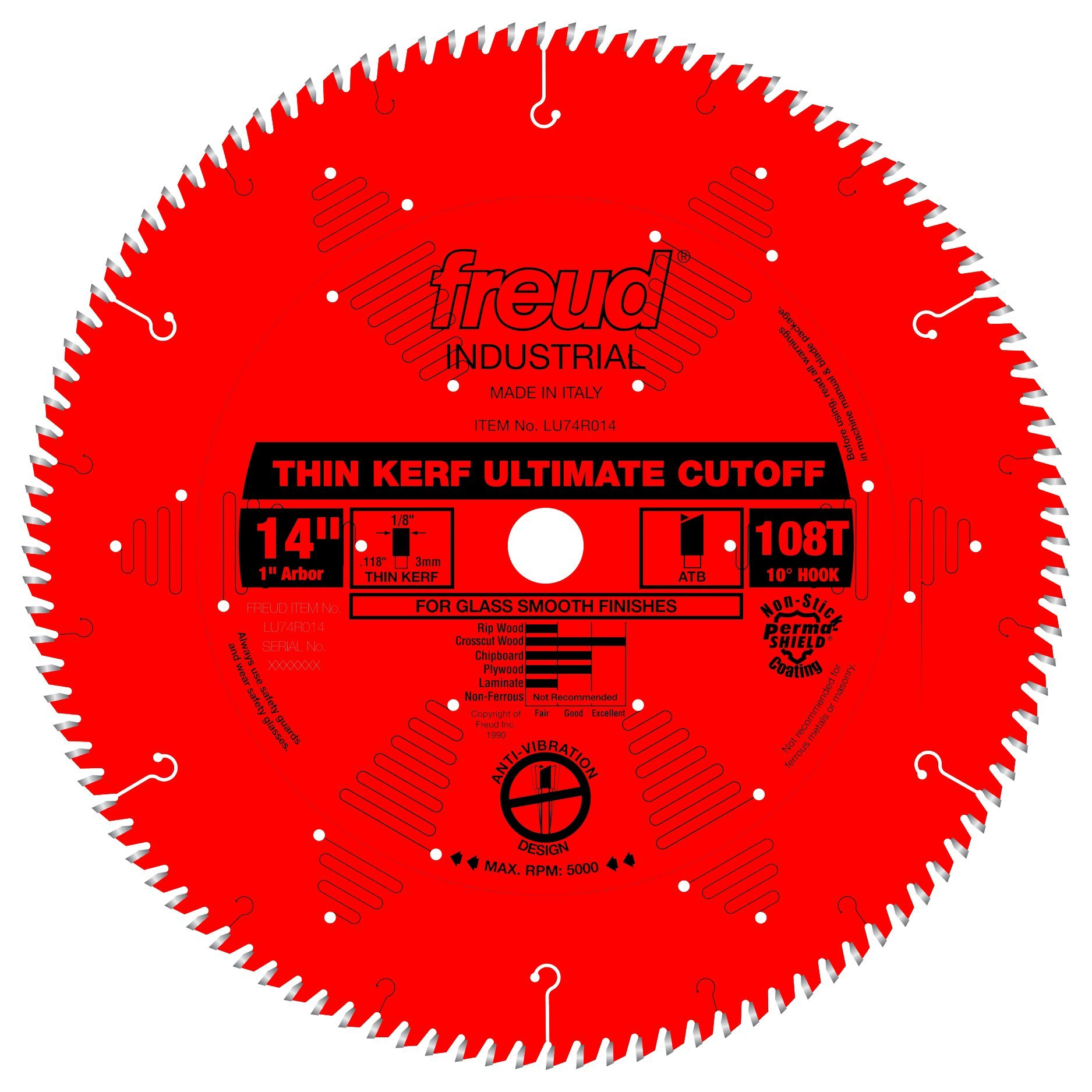 Disco Sierra FREUD LU74R014 14 Thin Kerf Ultimate Cut Off