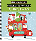 Brain Games - Sticker by Number: Christmas (Kids)