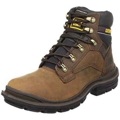 Caterpillar Mens Generator 6 Inch Soft Toe Work Boot Dark Brown