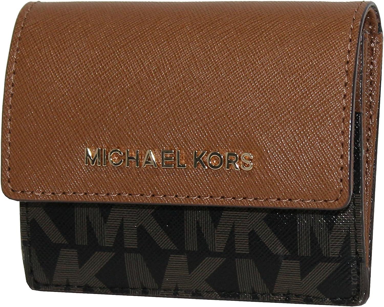 MICHAEL Michael Kors Women's Jet Set Travel Card Case ID holder Printed Leather