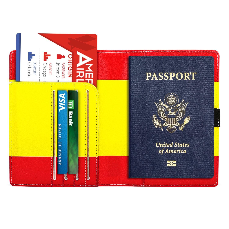 MoKo /Étui Porte-Passeport Prot/ège-Passeport en Cuir Synth/étique Pr/émium pour Le Voyage Indigo