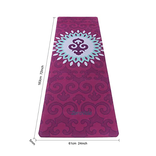 ZEROVIDA Colchoneta de Yoga 5mm Yoga Mat Caucho Natural 100% con Gamuza  Ecológica Esterilla de Yoga Profesional Lujoso Antideslizante para Hot Yoga  Pilates ... 81a9d4102428