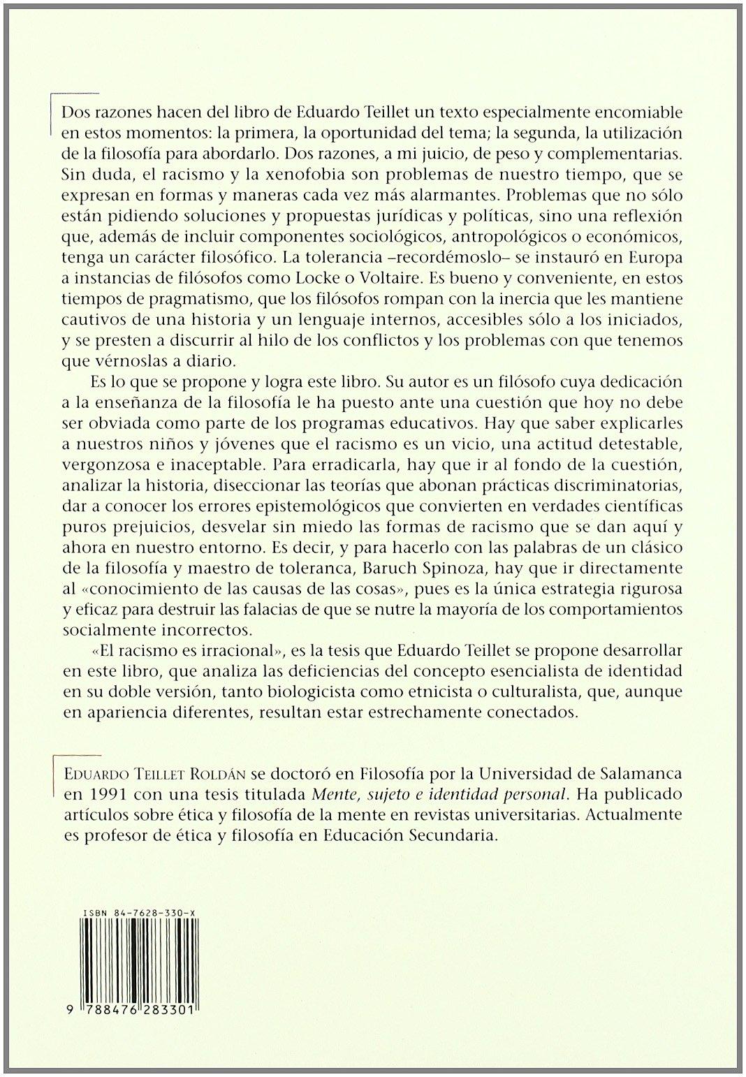 Raza, Identidad y Etica (ACTA Salmanticensia) (Spanish Edition): Eduardo Teillet Roldan: 9788476283301: Amazon.com: Books