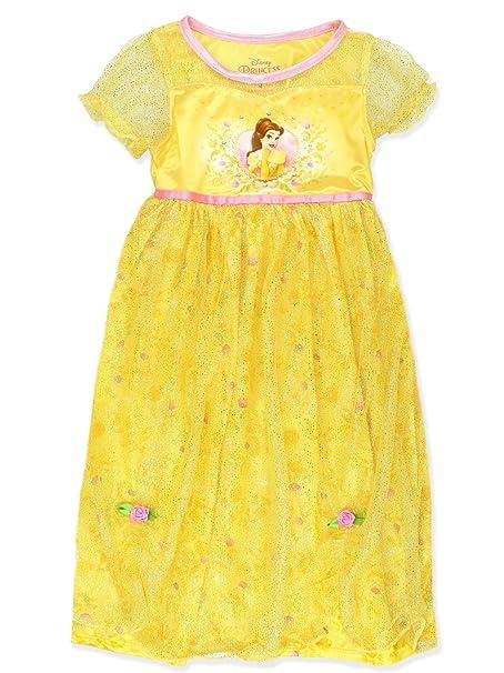 Amazon.com: Disney Princess Belle Girls Fantasy Nightgown ...