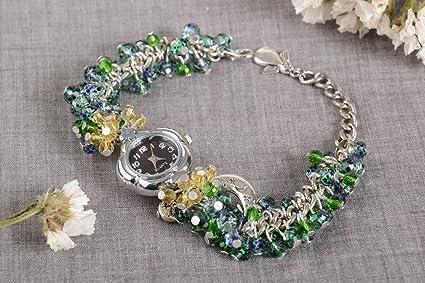 Pulsera de moda y reloj elegante bisuteria artesanal regalo original para mujer