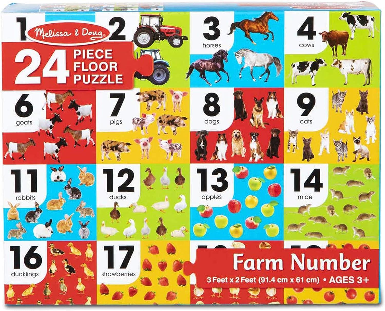 Melissa & Doug Farm Number Floor Puzzle