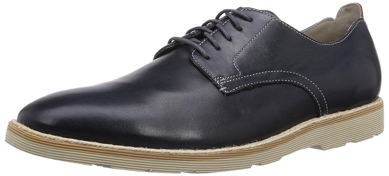Clarks Gambeson Walk - zapatos con cordones de cuero hombre, color azul, talla 42