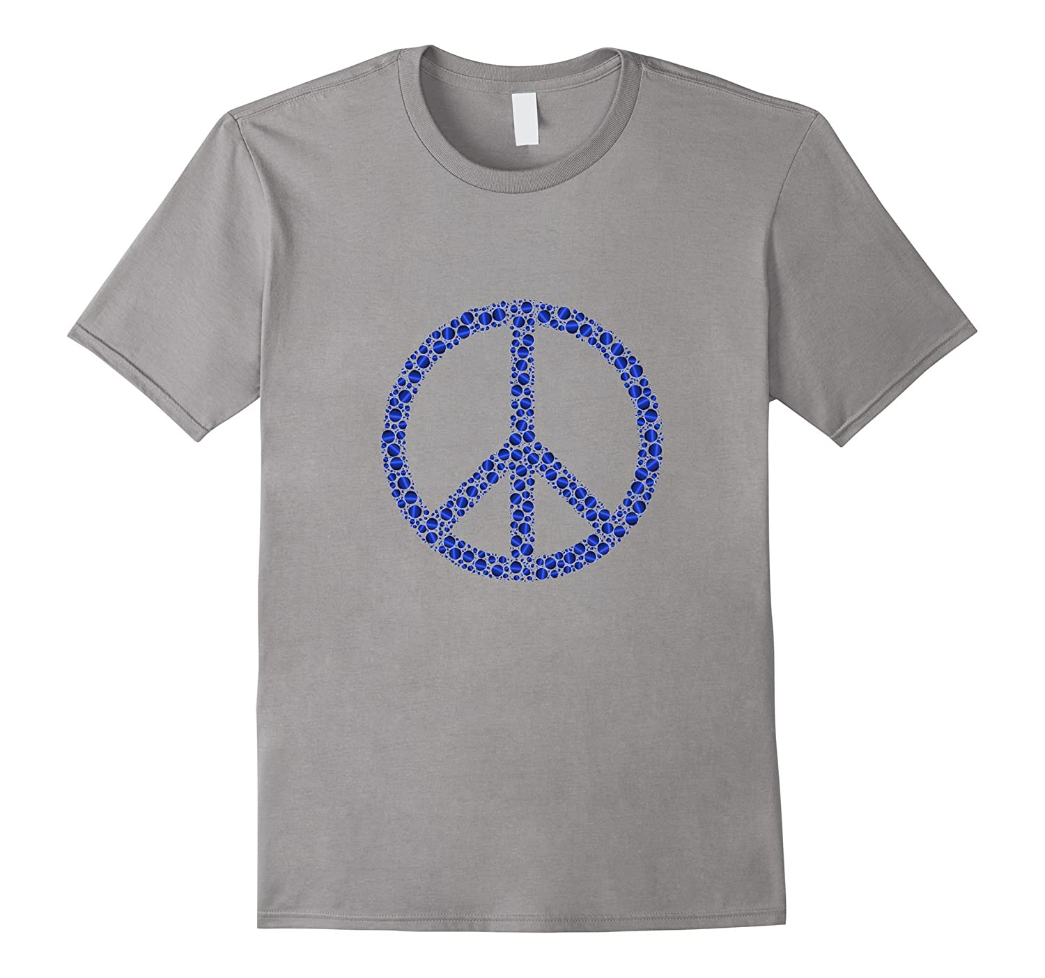 Funky Abstract Art Peace Sign t-shirt-TJ