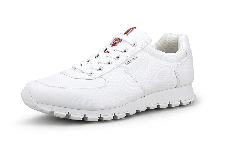 94821064 Amazon.com | Prada Men's Nylon Tech Trainer Sneaker, White 4E2942 ...