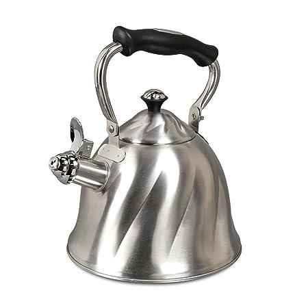 Mr. Coffee Alderton Stainless Steel 2.3-Quart Whistling Tea Kettle
