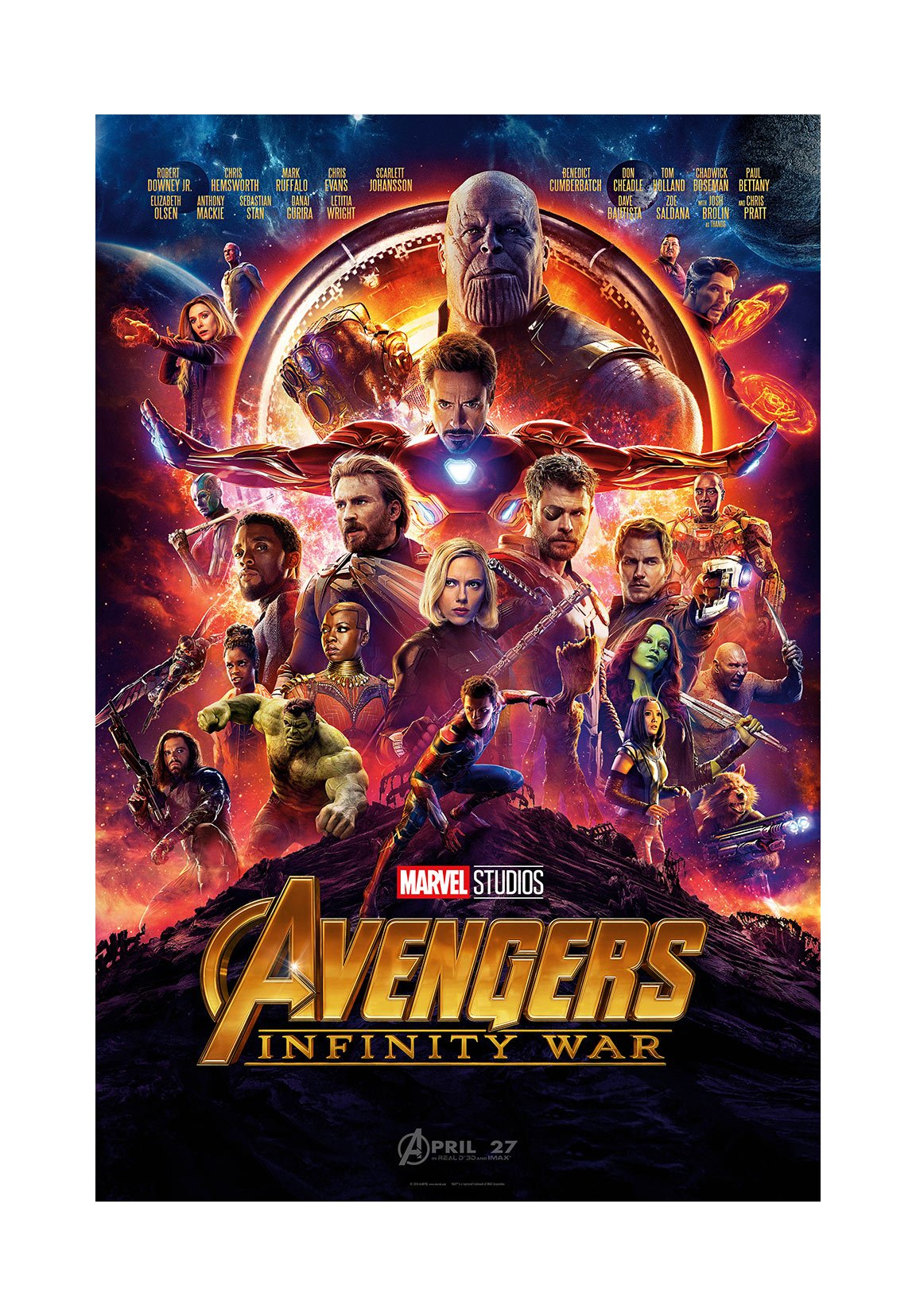 PosterOffice The Avengers Infinity War (Advance) Movie Poster - Size 24'' X 36'' - This is a Certified Print with Holographic Sequential Numbering for Authenticity.
