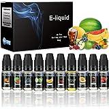 E-Liquids Vikeepro 10 x 10 ml E-LIQUID-BOX Premiumset für E Zigaretten/ Elektrische Zigarette/E Shisha-0mg (ohne Nikotin)