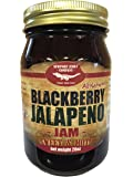 Gourmet Blackberry Jalapeno Jam Handcrafted Small Batch (FAT FREE, GLUTEN FREE & ALL NATURAL)