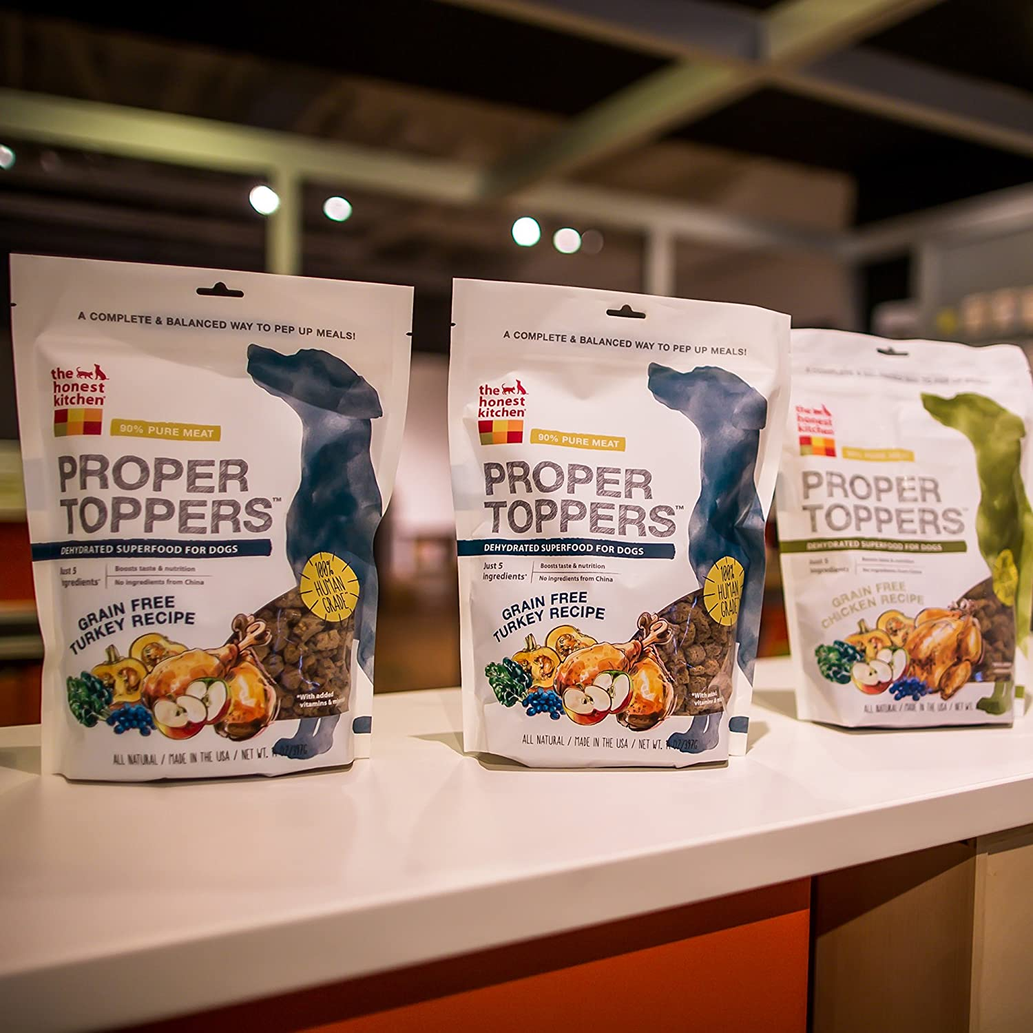the honest kitchen proper toppers natural human grade dehydrated