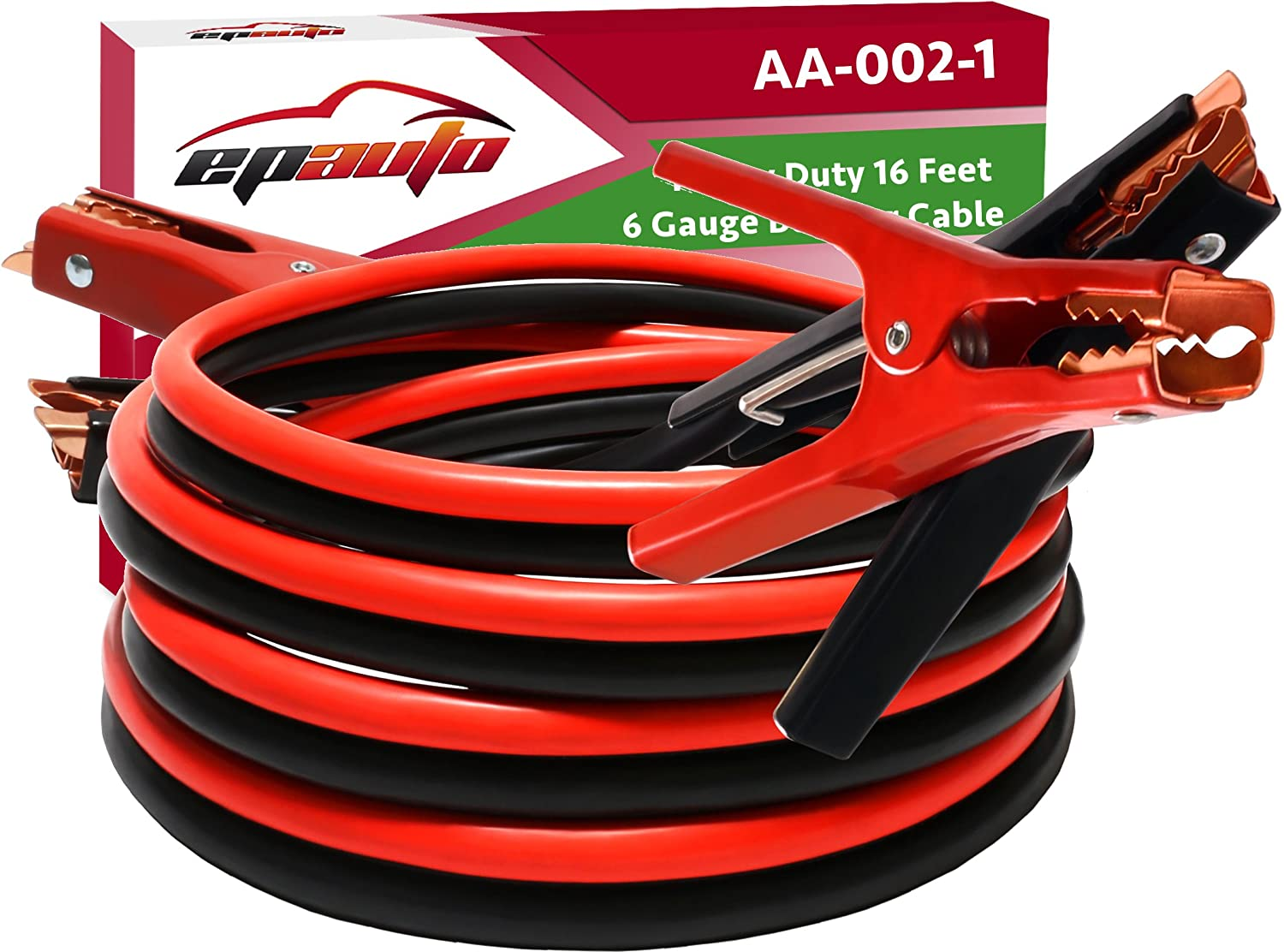 EPAuto 6 Gauge Cables for Jump Start
