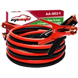 EPAuto 6 Gauge x 16 Ft Heavy Duty Booster Jumper Cables with Travel Bag and Safety Gloves