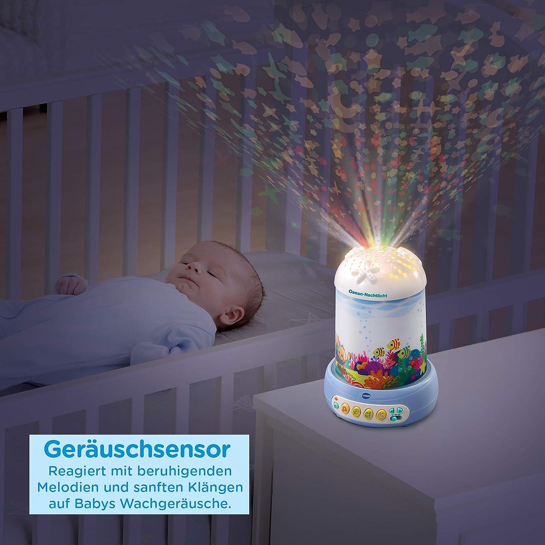 sanftes Einschlafen beruhigende Projektion Ozeanlicht Einschlafhilfe VTech 80-532874 Ozean-Nachtlicht